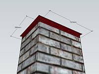 Колпак на столб заборный 390*510, RAL