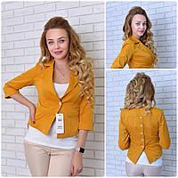 Пиджак  женский, модель 14, горчица, фото 1