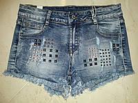 Джинсовые шорты с камушками Jack Berry 3509-3