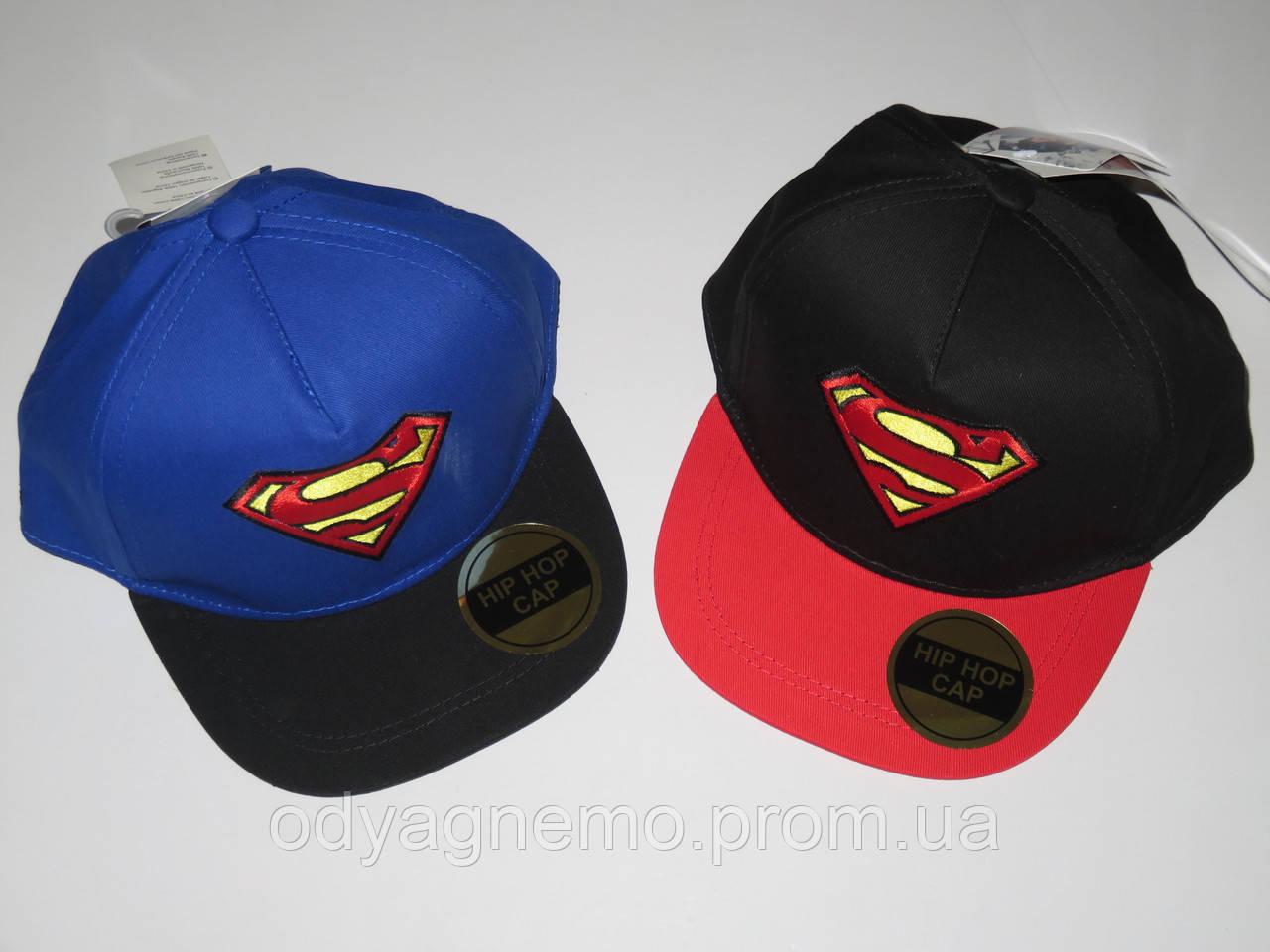 Кепки для мальчиков Superman оптом, 54-56 см.