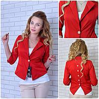 Пиджак  женский, модель 14, красный, фото 1