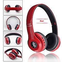 Беспроводные Bluetooth наушники P24 WIRELESS HEADPHONE (monster beats solo 2) c FM/ MP3/SD/микрофон, RED