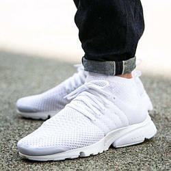 Мужские Кроссовки Nike Air Presto Ultra Flyknit White Белые