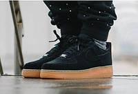 Мужские Кроссовки Nike Air Force 1 Low Suede Черные