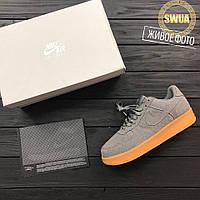 "Мужские Кроссовки Nike Air Force 1 07 Suede ""Dark Grey/Gum"""