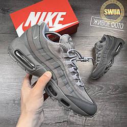 """Мужские Кроссовки Nike Air Max 95  """"Cool Grey"""" Серые"""