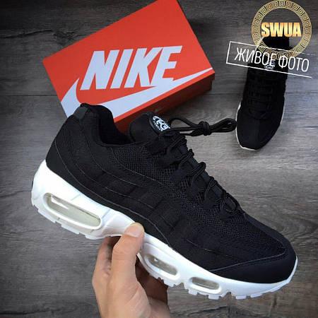 Мужские Кроссовки Nike Air Max 95 Stussy Black Черные   продажа ... 325f1d8d68c
