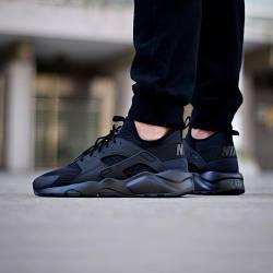 Мужские Кроссовки Nike Air Huarache Run Ultra Breathe Черные