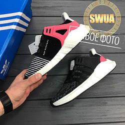 Мужские Кроссовки Adidas EQT Support 93/17 Turbo Red Boost Black Pink