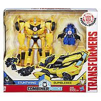 Трансформеры Роботы под прикрытием: Гирхэд-Комбайнер  Activator Combiners Bumblebee & Stuntwing Transformers