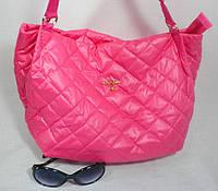 Яркая текстильная стеганая сумка-мешок