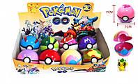 """Детский игровой Набор покебол с фигуркой """"Pokemon Go/ Покемоны"""" ( PG-0002) покебол 7см, фигурка, 8шт в коробке"""