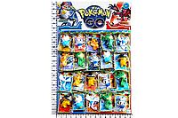 """Набор героев """"Pokemon Go/ Покемоны"""" (16073) фигурки 7см, карточки, 20шт на планшетке 59*39см"""