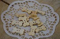 Пуговица деревянная косточка (1 шт)
