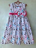 Платье летнее для девочек коты опт