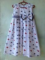 Платье летнее для девочек бантики