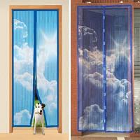 Антимоскитная сетка на двери на магнитах голубое небо