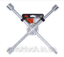 """Ключ баллонный крестовой усиленный, размер 17 х 19 х 21 х 1/2"""" мм, серия Стандарт (АвтоDело)"""