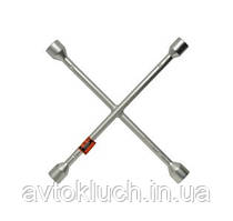 Ключ баллонный крестовой, размер 17 х 19 х 21 х 22 мм, серия Стандарт (АвтоDело)
