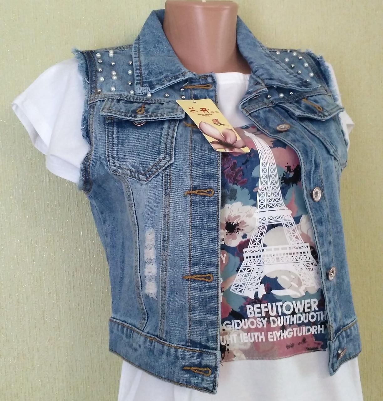 жилетка фото джинсовая