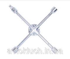 """Ключ баллонный крестовой универсальный, размер 17 х 19 х 21 х 22 х 1/2"""" мм, серия Стандарт (АвтоDело)"""