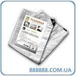 Тент тарпаулин Leno Cristal 3 х 3 м 100г/м2 прозрачный PLC1001,5/2 Bradas
