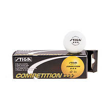 Кулі для настільного тенісу набір 3 штуки Stiga *** Competition SТ-16A