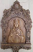 Икона резная Святая Ирина