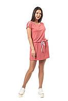 Летнее платье Баунти с вырезом  лодочка и цельнокроенными рукавами 42-56 размер