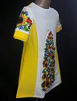 """Шикарное платье для девочки на габардине """"подсолнух и для панянки"""""""