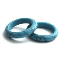 """Кольцо из синей пресс Бирюзы """"Магия камня"""""""