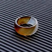 """Широкое кольцо в огранке из натурального камня  Коричневого Агата """"Хрустальные мечты"""""""