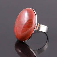"""Кольцо из кирпичной натурального камня яшмы """"Адажио"""""""
