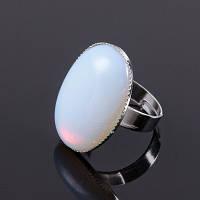 """Кольцо с синтезированным лунным камнем """"Адажио"""""""