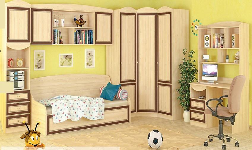 """Комплект мебели для детской комнаты, система """"Дисней"""" от Мебель-Сервис. Комплект 2"""