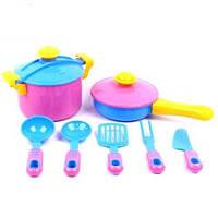 Набор посуды 9 предметов (в сетке), цвета в асортименте
