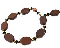 """Вечерний браслет из натуральной коричневой Яшмы """"Мисс Эшли"""" от krasotka.dn.ua"""