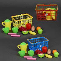 Корзина с посудой и продуктами