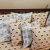 Премиум бортики-подушки в кроватку малыша. Комплект 12 гипоаллергенных подушек и простынка на резинке