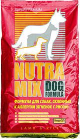 Nutra Mix Lamb & Rice Сухой диетический кормдля собак склонных к аллергии ,7,5кг