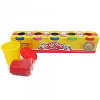"""Тесто для лепки """"Plasticine magical"""" 7755 (7765) (9135),  5 цветов"""