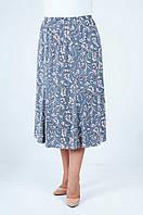 Женская летняя юбка годе серого цвета больших размеров