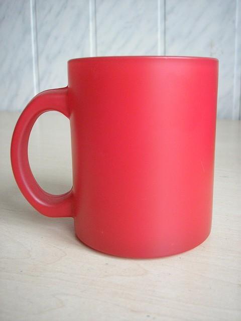 Магические чашки матовые красные 310 мл