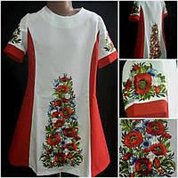 """Шикарное платье для девочки вышитое на габардине """" луговые цветы"""","""
