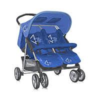Детская прогулочная коляска для двойни TWIN BLUE  ТМ Lorelli (Bertoni) FRIENDS