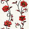 Шпалери паперові Демі 1266 червоно-білий