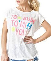 Трикотажная легкая женская футболка (2128 br)