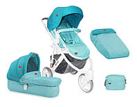 Детская универсальная коляска 2 в 1 MONZA 3 AQUAMARINE ТМ Lorelli (Bertoni) 10020741741