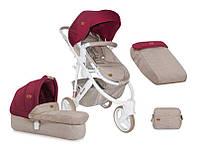 Детская универсальная коляска 2 в 1 MONZA 3 BEIGE&RED ТМ Lorelli (Bertoni) 10020741742