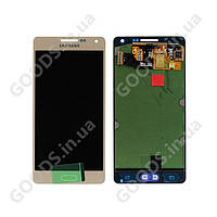 Дисплей Samsung A700F Galaxy A7, A700H Galaxy A7 с сенсором золотистый